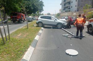 תאונה בשדרות עופר בעיר