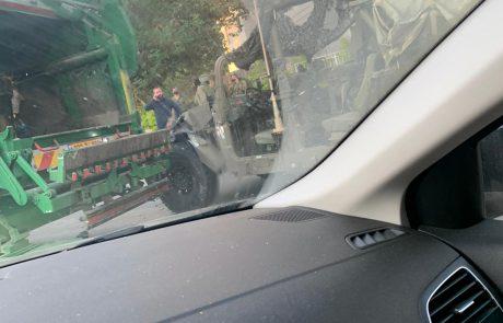 לזה לא ציפו בתרגיל הצבאי בברנע: צפו ב📸 ת.ד. באשקלון בין משאית פינוי זבל להאמר צבאי