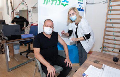 ראש העיר, תומר גלאם, קיבל הבוקר את המנה השנייה של החיסון נגד הקורונה
