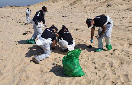 שוטרים למען הסביבה: כ-200 שוטרים פעלו הבוקר על מנת לסייע בניקיון חוף ניצנים