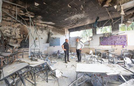 התלמידים באשקלון שבו למוסדות החינוך; ראש העיר סייר בישיבת ׳צביה׳ שספגה פגיעה ישירה
