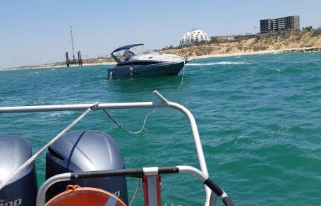 צפו 📹 מדהים: שוטרי השיטור הימי של משטרת ישראל חילצו סירה רגע לפני התרסקותה על שובר הגלים באשקלון