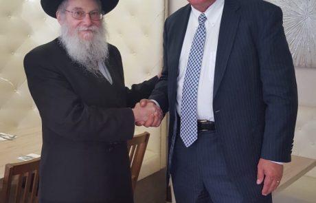 """חב""""ד אשקלון לחבר הקונגרס באריזונה: """" תודה על התמיכה בכיפה(ת הברזל) """""""
