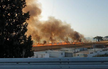 שריפה גדולה בכניסה לאשקלון