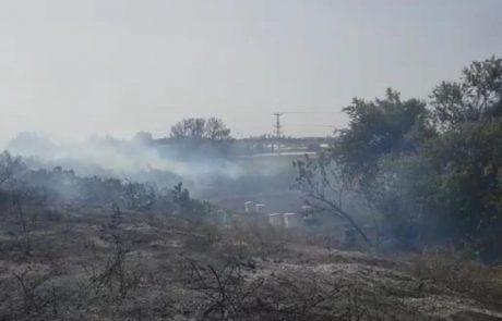 שריפת ענק מדרום לאשקלון