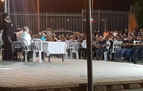 """זכות עצומה: בנו של הרב יורם זצ""""ל, הרב ישראל אברג'ל שליט""""א הגיע לשיעור מיוחד באסף מימון"""
