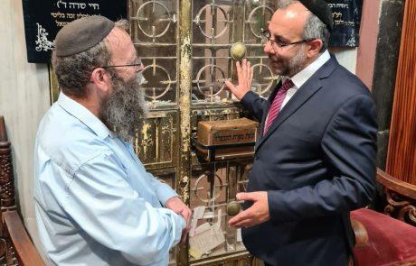השר לשירותי דת, הרב יעקב אביטן התארח היום בעיר הקודש חברון
