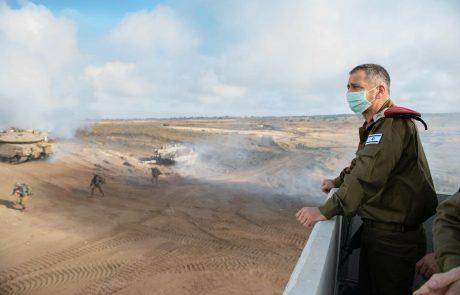 """הרמטכ""""ל אביב כוכבי לחיילים הבוקר: """" האירועים הקרובים יכולים להתפתח ללחימה בעזה """""""